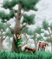 [tLoZ] Rest in misty forest by Edo--sama