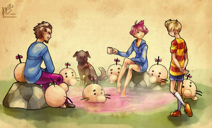 Mr Saturns' hot spring [mother3] by Edo--sama