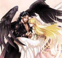 A Raven and a Heron [FE9] by Edo--sama