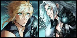 Cloud vs Sephiroth by Edo--sama