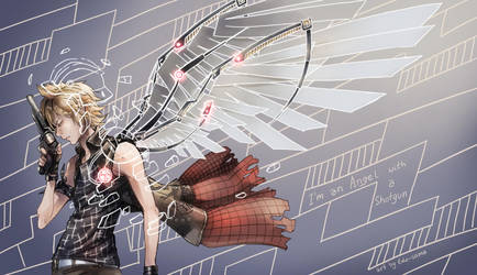 FFXV: Angel with a shotgun by Edo--sama