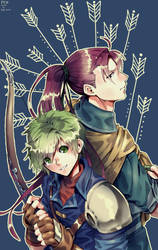 The master and the apprentice (FE10) by Edo--sama