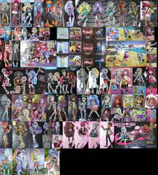 Monster high offical box art by Fairytopiasenshi