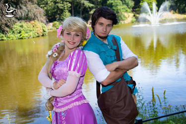 Rapunzel and Flynn Rider by AdiaCosplay