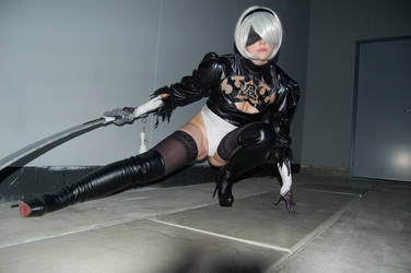 Self-destruct 2B from NieR:Automata (Action pose) by AdiaCosplay
