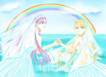 Yuri-Wedding by chatenoir