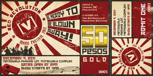 Chanel [V] Ph Red Revolution Event Ticket by Click-Art