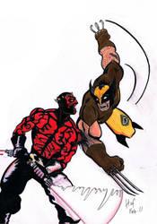 Darth Maul vs Wolverine by Hofling