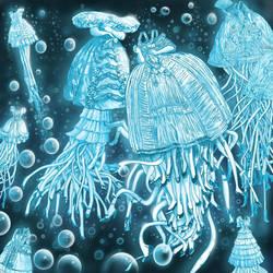 Jellyfish dress by m4ndril