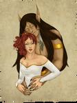 Aharamen and Kira by Gnewi