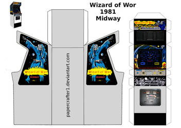 Wizard Of Wor Arcade Papercraft by WeirdFantasticToys