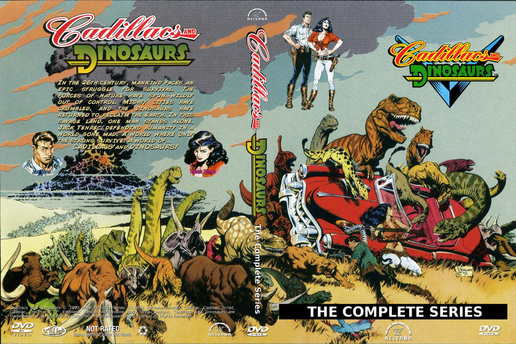 Cadillacs  and  Dinosaurs DVD Cover final by WeirdFantasticToys