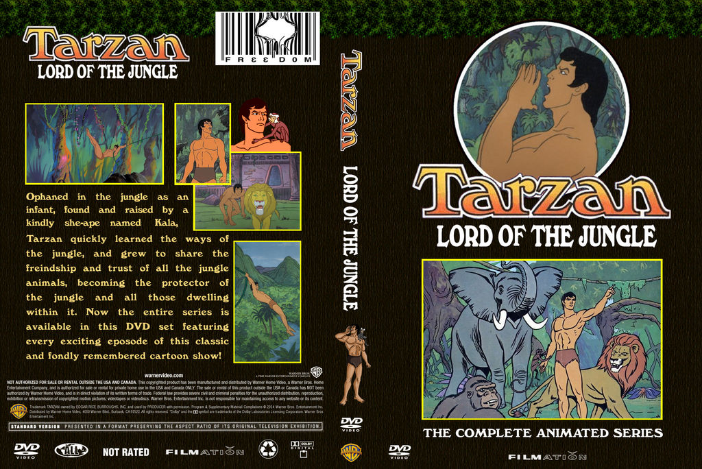Filmation Tarzan Lord of the Jungle DVD Cover by WeirdFantasticToys