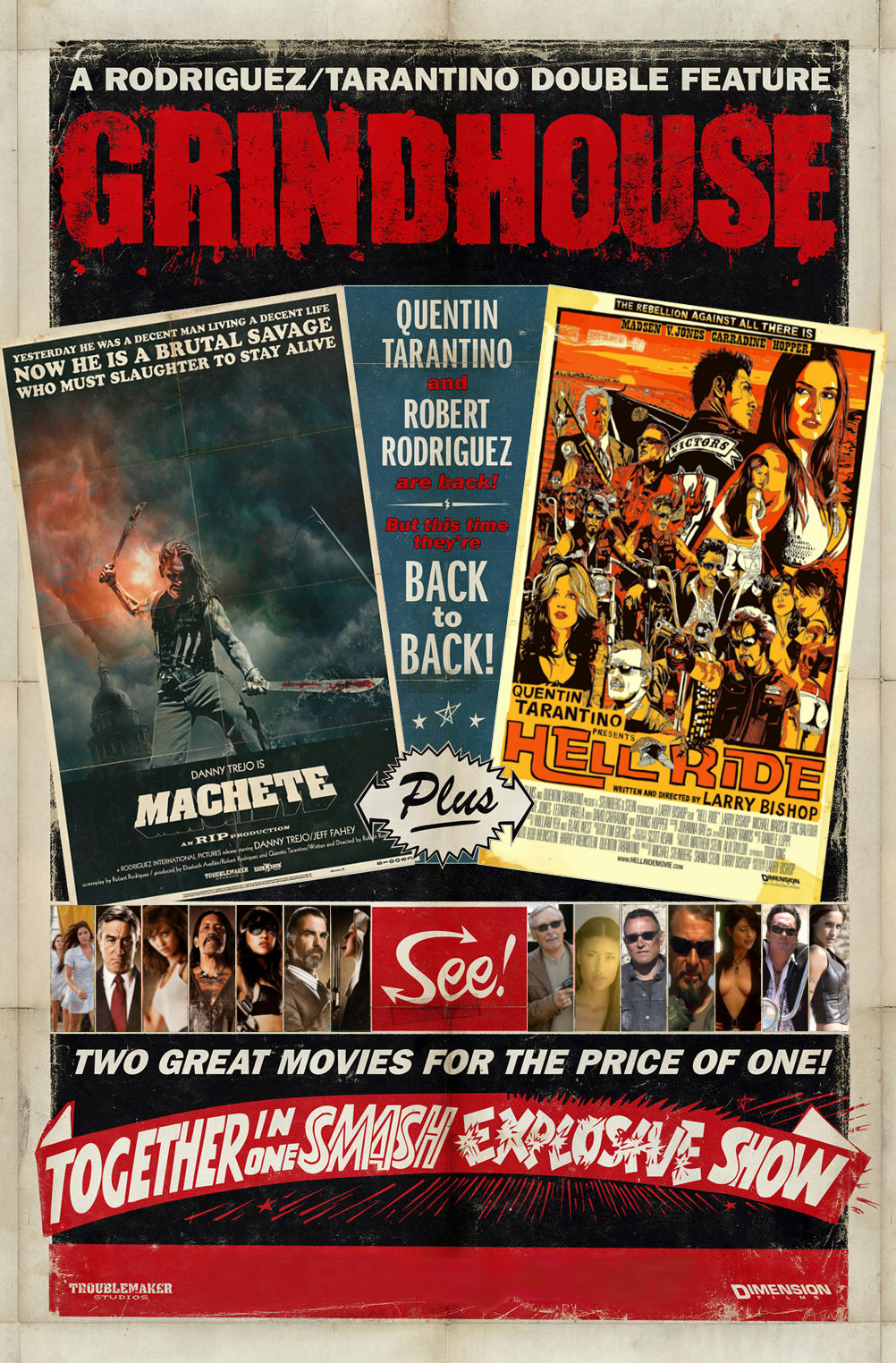GRINDHOUSE Machete + Hell Ride Poster by MisterBill82