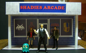 Shadies Arcade Storefront Diorama with figures by MisterBill82