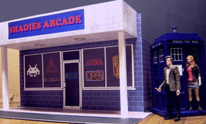 The TARDIS Outside The Arcade by MisterBill82