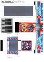 Globetrotters Pinball Machine Papercraft Template by MisterBill82