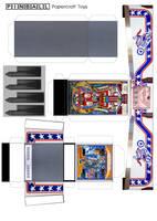 Evel Knievel pinball machine papercraft template by MisterBill82