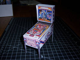 Evel Knievel Pinball Machine Papercraft by MisterBill82