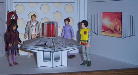 Season 19 TARDIS crew II by WeirdFantasticToys