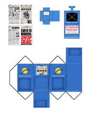 Newspaper Rack by MisterBill82