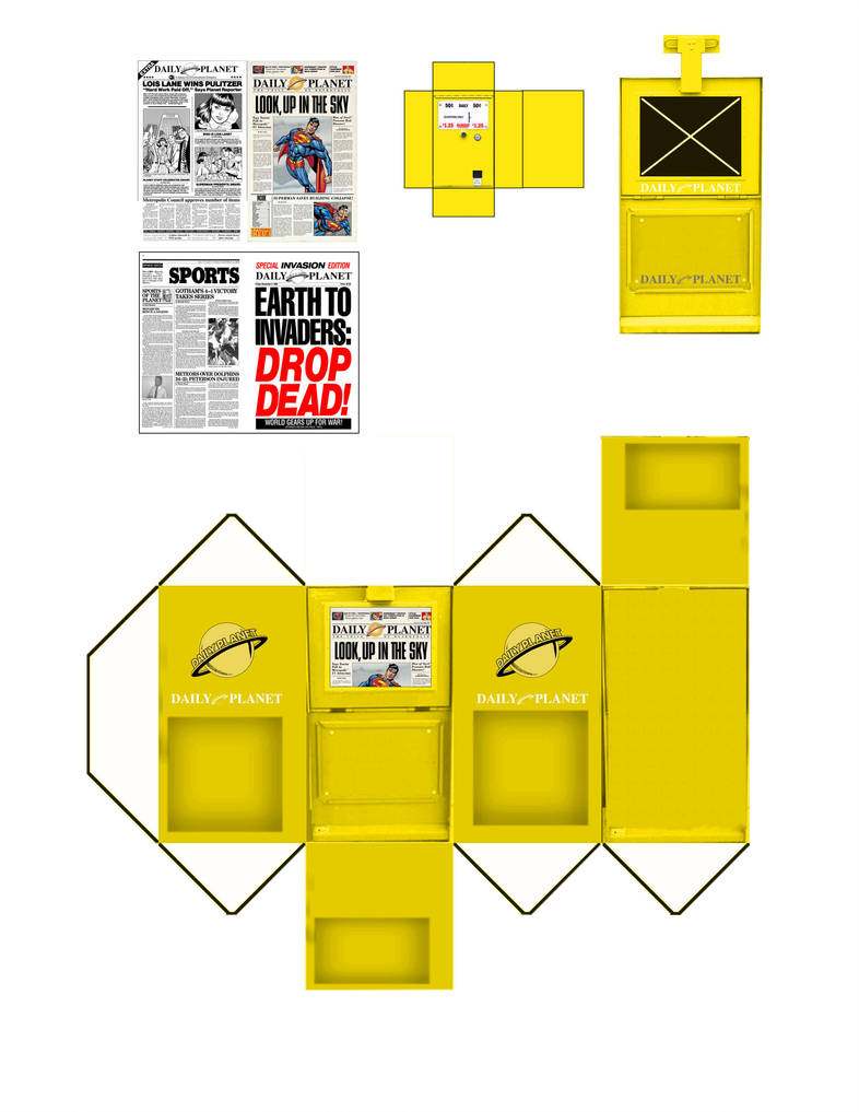 Newspaper Rack Yellow by WeirdFantasticToys