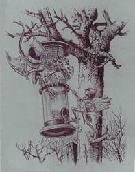 The Bird Feeder by JohnPatience