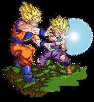 Onda Vital padre e hijo by BardockSonic