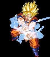 Goku Super Guerrero Onda Vital by BardockSonic