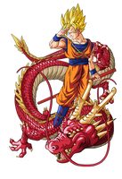 Goku super guerrero dragon by BardockSonic