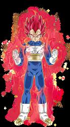 Vegeta Super Saiyan God by BardockSonic