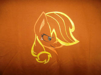 Smirking Applejack by OrangeAfterGlow