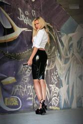 Danca Black Zipskirt White Blouse 04 by malkiss