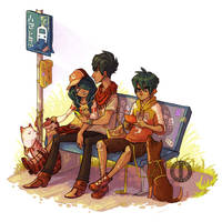 Bus Stop by Turtle-Arts