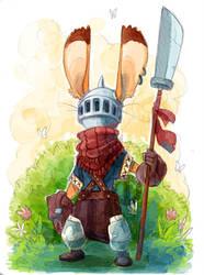 Rabbit Warrior by Turtle-Arts
