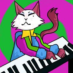 Keyboard Kitty by cloverkinz