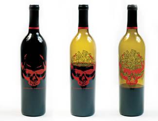7 Deadly Zins Wine Bottle by funsizeddesign