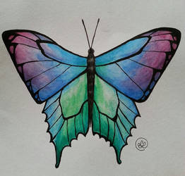 Watercoloured Butterfly by The-Mocking-JLaw