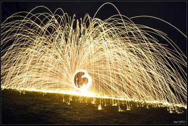 Flaming Sparks - Poi by Esmerelde