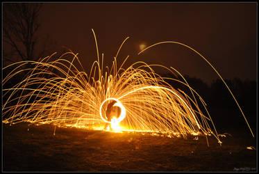Flaming Sparks - Poi 2 by Esmerelde