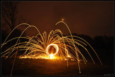 Flaming Sparks - Poi 3 by Esmerelde