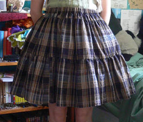 Brown plaid lolita skirt by Luai-lashire