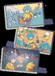 A Pikachu's adventure by Eledora