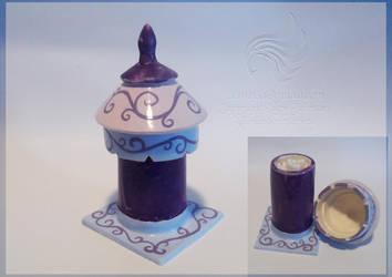 Handmade Heritage Finial earbud jar by LRJProductions