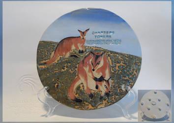 Handmade Wallaby Ceramic Hotplate/Skillet by LRJProductions