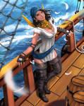 Isabela at sea by swampything