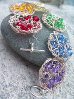 Rainbow Crochet Wire Bracelet by SioniWinwns