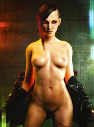 Cyberpunk 2077 V Pin-up #2 by SKstalker