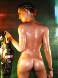Cyberpunk 2077 V Pin-up #4 by SKstalker