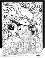 Plasmashin Z characters by Alberto-Rios